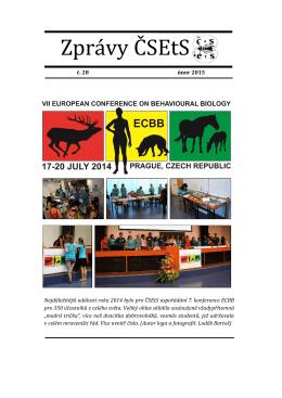 č. 28 (pdf) - Česká a slovenská etologická společnost
