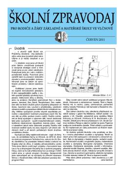 Školní zpravodaj - červen 2011 (pdf)
