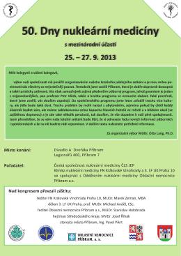 Pozvánka - Česká společnost nukleární medicíny
