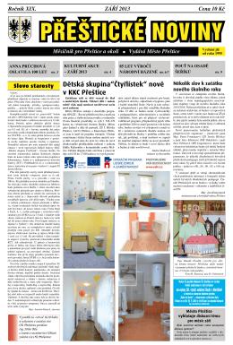 Září (.pdf) - Kulturní a komunitní centrum Přeštice