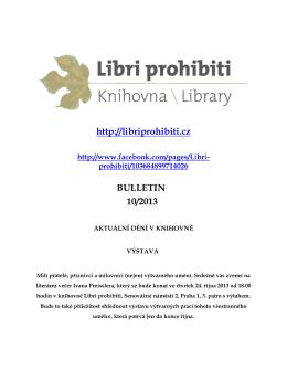 Bulletin 2013/10 - Libri prohibiti
