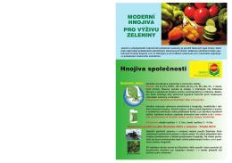 Moderní hnojiva pro výživu zeleniny - compo