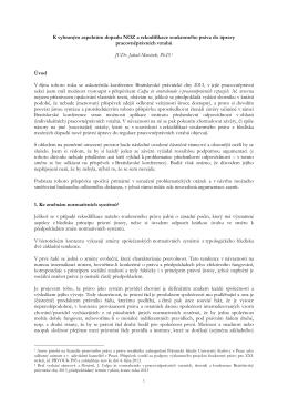 K vybraným aspektům dopadu NOZ a rekodifikace soukromého
