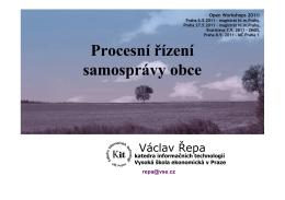 Procesní řízení samosprávy obce