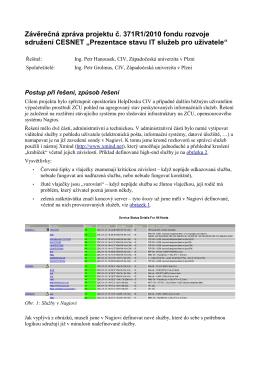 Závěrečná zpráva projektu - Support