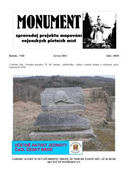 Ročník : VIII červen 2014 číslo : 0030 NÁRODU, KTERÝ SI NEVÁŽÍ