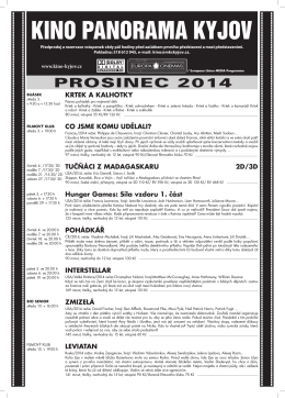 prosinec 2014 - Kino Panorama