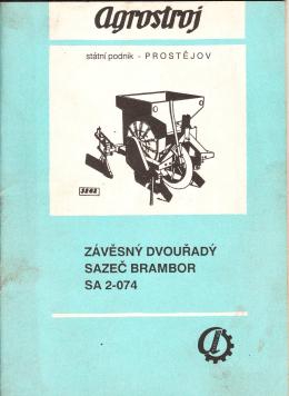 Sazeč brambor SA 2-074 - Návod k obsluze, katalog ND