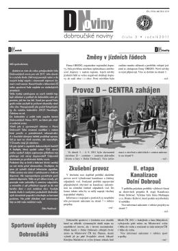 Dobroučské noviny č. 3/2011.