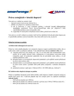 Práva cestujících v letecké doprave (PDF)