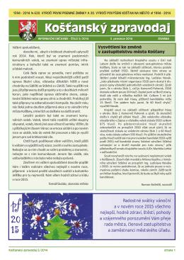 Košťanský zpravodaj – prosinec 2014