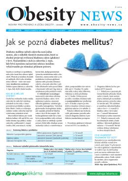 Jak se pozná diabetes mellitus?