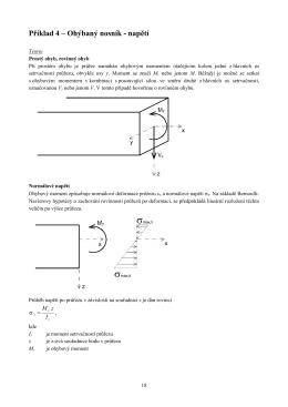 Příklad 4 – Ohýbaný nosník