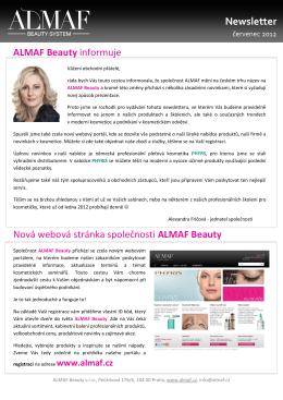 Newsletter - červenec 2012