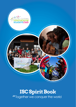 ISC Spirit Book - International Student Club CTU in Prague