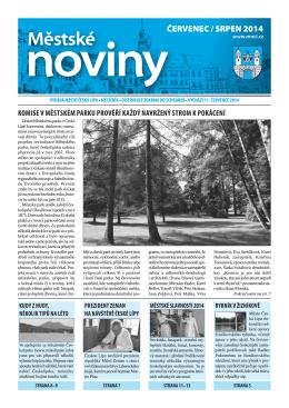 7,8/2014 Červenec, srpen - Městské noviny Česká Lípa