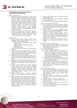 Všeobecné obchodní podmínky (VOP) - E