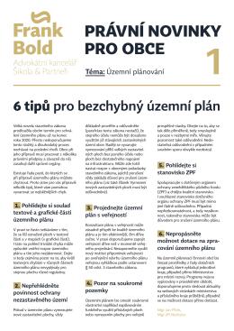 právní novinky pro obce 1 - Advokátní kancelář Šikola a partneři