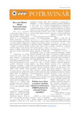 03/2012 - Nezávislý odborový svaz pracovníků potravinářského