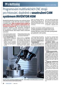 Programování multifunkčních CNC strojů pro frézování, doplněné o
