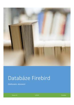 Zálohování a obnovení databáze Firebird
