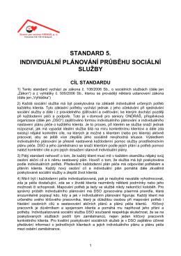 Standard DSO č. 5 - Domov pro seniory ONDRÁŠ, po Brušperk