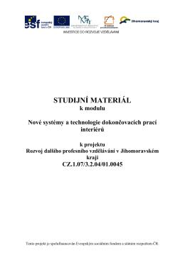 STUDIJNÍ MATERIÁL