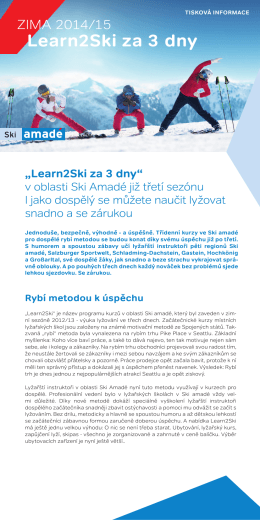 Learn2Ski za 3 dny