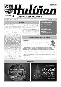 Hulíňan č. 12/2014