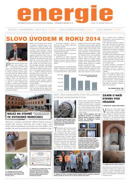 SLOVO ÚVODEM K ROKU 2014 - Energie stavební a báňská