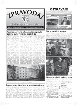 Leden 2013 - Městský Obvod Mariánské Hory a Hulváky