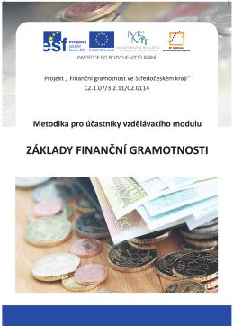 1. Základy finanční gramotnosti