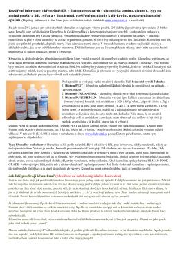 Rozšířené informace o křemelině (DE – diatomiceous earth