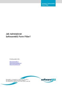 Jak instalovat Software602 Form Filler