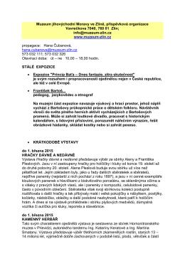 Program muzea (PDF) - Muzeum jihovýchodní Moravy ve Zlíně