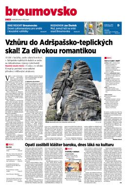 Vzhůru do Adršpašsko-teplických skal! Za divokou romantikou