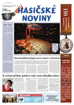 Hasičské noviny č. 20, 24. října 2014