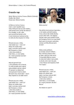 Crassův rap
