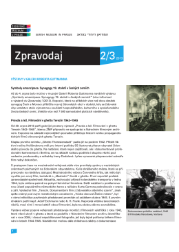 2/2013 - Židovské muzeum v Praze