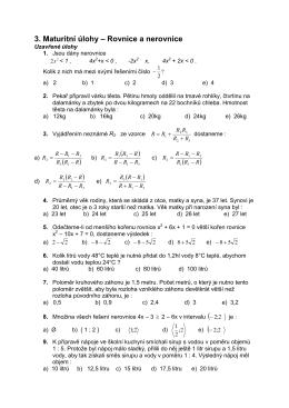 Rovnice a nerovnice