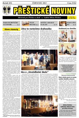 Červenec (.pdf) - Kulturní a komunitní centrum Přeštice