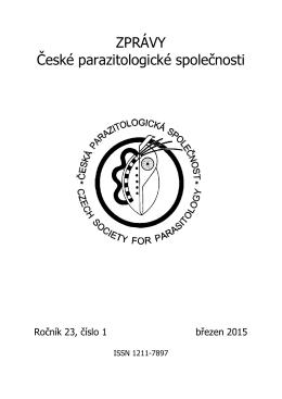 ročník 23, číslo 1, březen 2015 - Česká parazitologická společnost