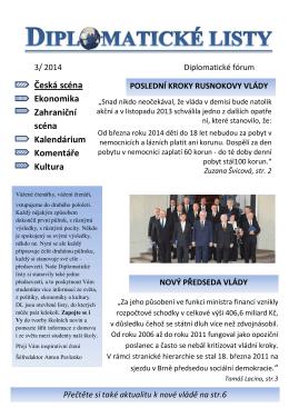 Diplomatické listy 2014/3
