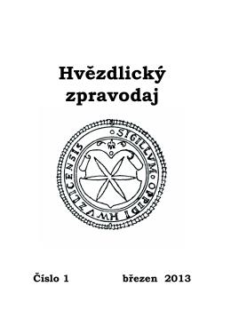 Zpravodaj č. 1/2013