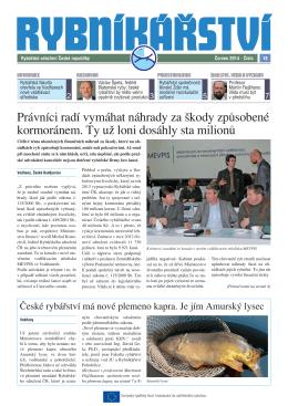 Noviny Rybníkářství 18. číslo - Rybářské sdružení České republiky