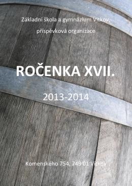 Ročenka XVII-2013-2014 - Základní škola a gymnázium Vítkov