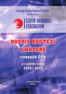 rozpis soutěží čsh 2014/2015