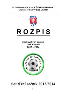 R O Z P I S - Okresní fotbalový svaz Bruntál