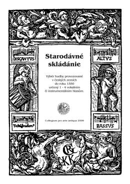 Starodávné skládánie - Collegium pro arte antiqua