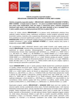 Tisková zpráva 5. 2. 2015 TERINVEST, spol. s r.o.